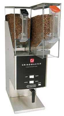 Grindmaster - Cecilware 250RH-3 Automatic Stainless Coffee Grinder, 3-Grind Settings per Hopper