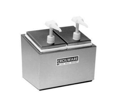 Grindmaster - Cecilware 344E Condiment Rail, 3-Economy Pumps, 2.5-qt Jars, Covers, Non-Insulated