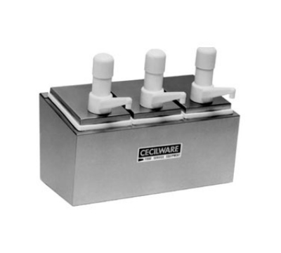 Grindmaster - Cecilware 444S Condiment Rail, 4-Super Pumps, 2.5-qt Jars, Covers, Non-Insulated