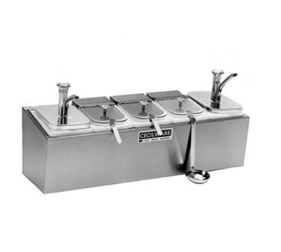 Grindmaster - Cecilware 544MC Condiment Rail, 2-Metal Pumps, 2.5-qt Jars, 3-Covers, Non-Insulated