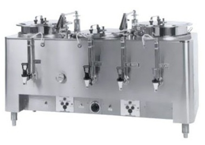 Grindmaster - Cecilware 73010(E) Automatic Triple 10-gal Coffee Urn w/ Pump Style Brew, 120/208/1 V