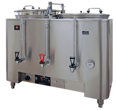 Grindmaster - Cecilware 8103(E) 380480 Twin Automatic AMW Coffee Urn, 3 gal. Capacity per Liner, 380/480 V