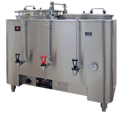 Grindmaster - Cecilware 8106(E) Automatic Twin 6-gal Coffee Urn w/ Fresh Water Brew, Dual Wall 120/208/1 V