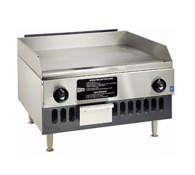 Grindmaster - Cecilware BG24 NG 24 in Countertop Griddle w/ 5/8-in Steel Plate & Manual Controls, NG