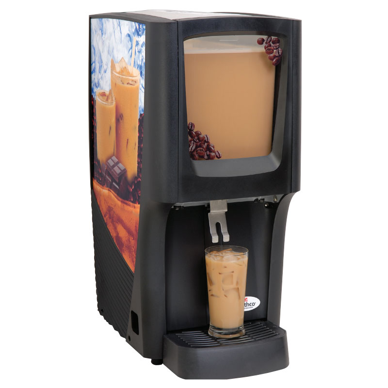Grindmaster - Cecilware C-1S-16 5 gal Capacity 12-1/2 W Crathco Cold Beverage Dispenser, Front Window