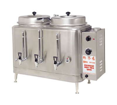 Grindmaster - Cecilware CH100N 1202081 Chinese Hot Tea Urn, Twin 3 gal Capacity Each, Fresh Water, 120/208/1