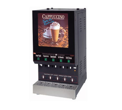 Grindmaster - Cecilware GB5M210-LD-U 5-Flavor Hot Cappuccino Dispenser w/ 6-gal Capacity
