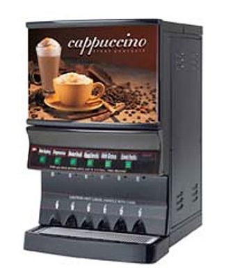 Grindmaster - Cecilware GB8MP-10-LD-U 8-Flavor Fast Flow Manual Cappuccino Dispenser w