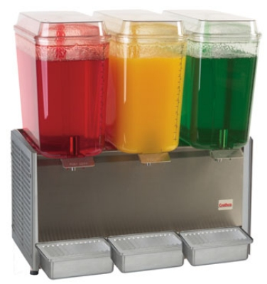 Grindmaster - Cecilware D35-3 Cold Beverage Dispenser For Premix, (3) 5-Gallon, Stainless, 120 V