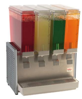 Grindmaster - Cecilware E49-3 Twin Premix Cold Beverage Dispenser, (4) 2.4-Gallon, 120 V