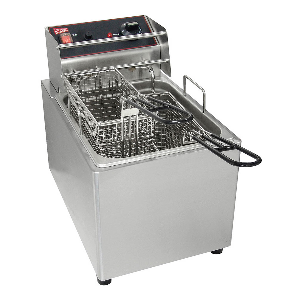 Grindmaster - Cecilware EL15 Countertop Fryer, 15 lb. Fat Capacity, Removable Tank, Stainless