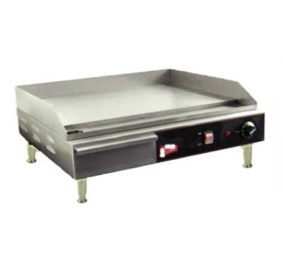Grindmaster - Cecilware EL1624 24-in Countertop Griddle w/ 1/2-in Polished Steel Plate, 240 V