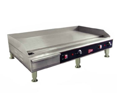 Grindmaster - Cecilware EL1636 36-in Countertop Griddle w/ 1/2-in Polished Steel Plate, 240 V