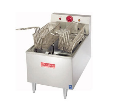 Grindmaster - Cecilware EL170 Countertop Fryer, 15 lb. Fat Capacity, 4 in Legs, Heavy Duty Stainless