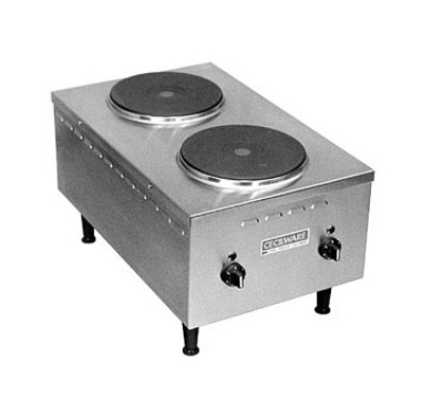 Grindmaster - Cecilware EL24SH 2403 Hotplate w/ 2-Cast Iron Burners & Manual Control, 240/3 V
