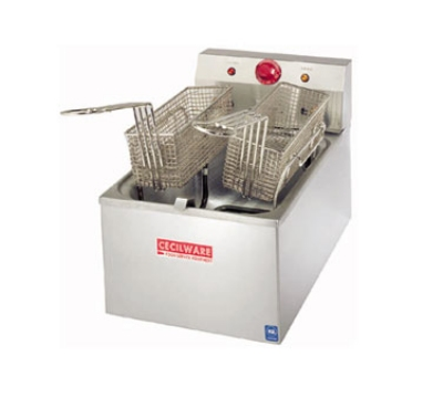 Grindmaster - Cecilware EL250 Countertop Electric Fryer - (1) 15-lb Vat, 240v/1ph