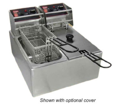 Grindmaster - Cecilware EL2X6 Countertop Split Pot Fryer, 6 lb. Fat Capacity Each, Stainless, 120 V