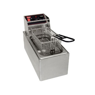 Grindmaster - Cecilware EL6 Countertop Fryer, 6 lb. Fat Capacity, Removable Tank, Stainless