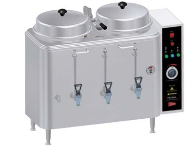 Cecilware/Grindmaster FE100G Gas Automatic Coffee Urn Twin 3 Gallon Capacity LP Restaurant Supply