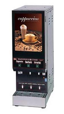 Grindmaster - Cecilware GB3M10-LD Cappuccino Dispenser, Manual Control, (1) 10-lb & (2) 5-lb Hoppers