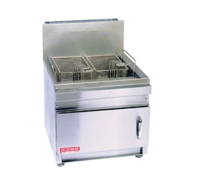 Grindmaster - Cecilware GF10NG Countertop Fryer, 13 lb. Fat Capacity, Flat Bottom, NG