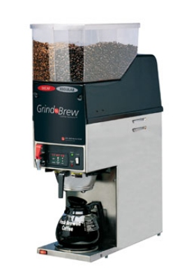 Grindmaster - Cecilware GNB-21H Auto 12 Cup Grind'n Brew Coffee Brewer/Grinder for Glass Decanter