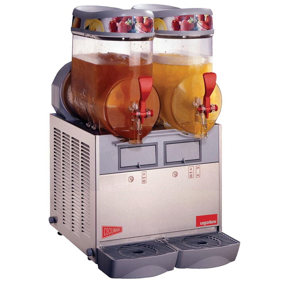 Grindmaster - Cecilware MT2MINI Granita Beverage Dispenser, Twin 1.5-Gal Bowl , Manual Fill