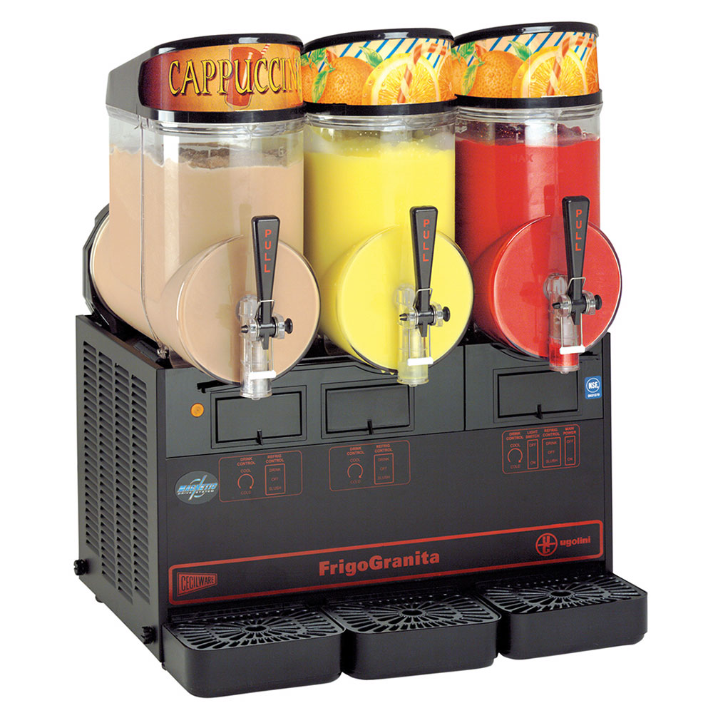 Grindmaster - Cecilware MT3ULBL 2-1/2 gal FrigoGranita Slush Machine, Triple, Adjustable, Black