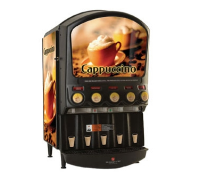 Grindmaster - Cecilware PIC-5-I Hot Chocolate Cappuccino Dispenser, 5-Hoppers & Back Li