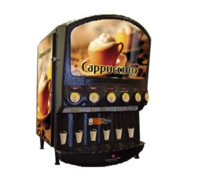 Grindmaster - Cecilware PIC-6 Hot Chocolate/Cappuccino Dispenser, 6 Head Unit, 8 in Cup Clearance
