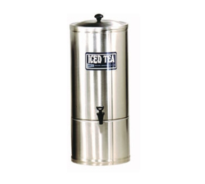 Grindmaster - Cecilware S2 2 gal Iced Tea Dispenser, 7 in Faucet Clearance, Portable, Stainl
