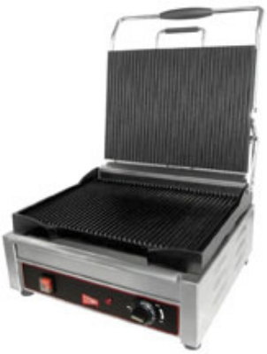 Grindmaster - Cecilware SG1LG240 Single Plus Panini/Sandwich Grill, Grooved Surface, 240 V