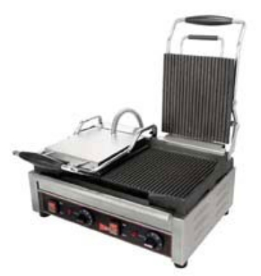 Grindmaster - Cecilware SG2LG Double Panini/Sandwich Grill with Grooved Surface