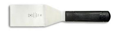 Mercer Cutlery M18730 Millennia Turner w/ Poly Handle, 4 x 2.5-in, Stainless
