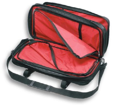 Mercer Cutlery M30429M Triple-Zip Knife Case w/ Shoulder Strap, 21 x 10 x 4-in