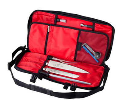 Mercer Cutlery M30512M Knife Case Single Zip, 2-Saftey Straps, Shoulder Strap, Heavy Duty Poly Exterior
