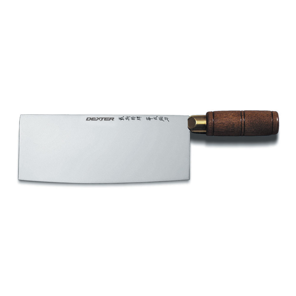 Dexter Russell 8915 Chinese Chefs Knife, 8 x 3.25-in, High Carbon Steel, Walnut Handle
