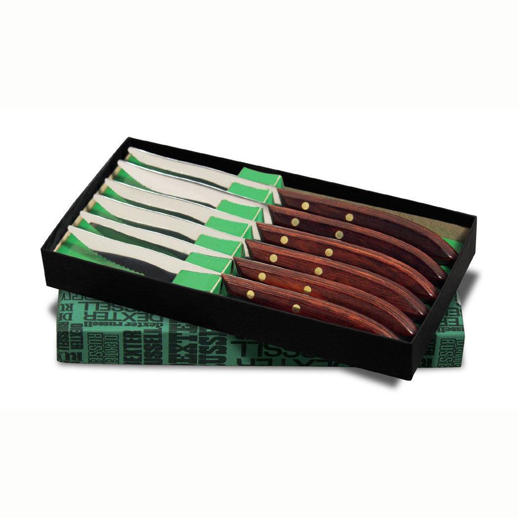 Dexter Russell 965SC-6P Dexter-Russell 4 in Table Steak Knives, In Gift Box, 6 Piece