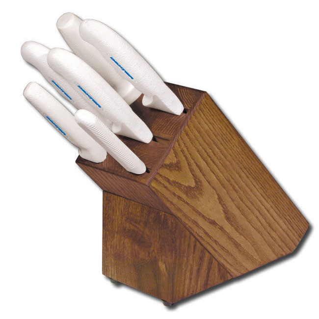 Dexter Russell HSG-3 7-piece Knife Block Set, White Handle
