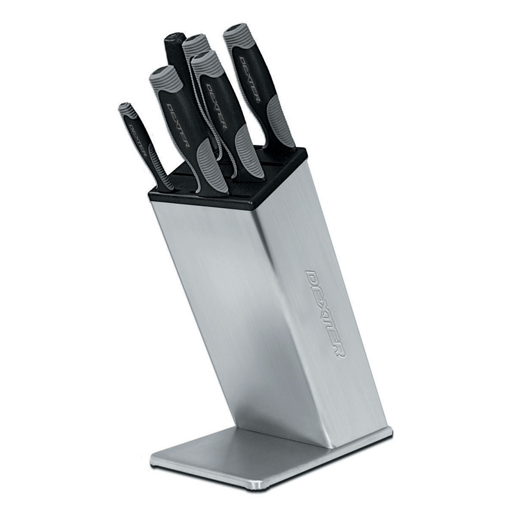 Dexter Russell VS6 V-lo 6 Piece Knife Block Set, Stainless Steel