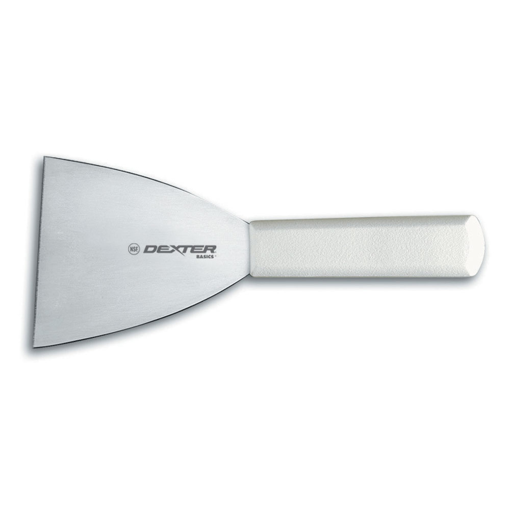 Dexter Russell P94850 Russell International 4 in Stiff Scraper, White Handle