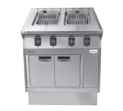 Electrolux 584103NG Range Line Fryer, (2)3.6-Gallon, Wall Install, 100,000-BTU, NG