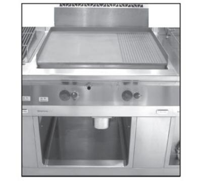 Electrolux 584122NG Range Line Griddle w/ Smooth, Wall Install, 59,000-BTU