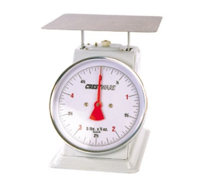 "Crestware SCA625 Portion Control Scale, 25 lb x 2 oz, 6"" Dial, Standard Duty"