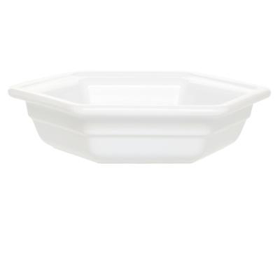 Emile Henry 053422 Large Hexagonal Casserole Dish, Ceramic, Blanc
