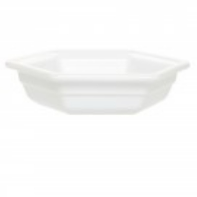 Emile Henry 053427 Small Hexagonal Casserole Dish, Ceramic, Blanc