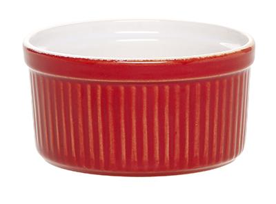 Emile Henry 331001 8-oz Souffle Dish, 4-in, Ceramic, Cerise