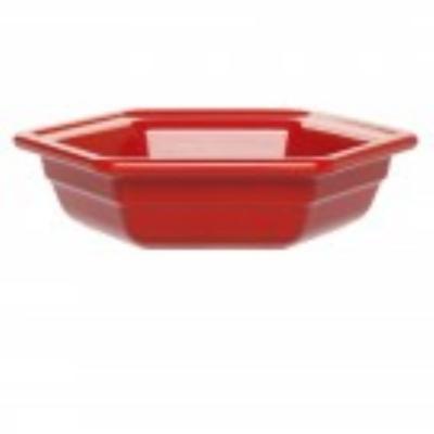 Emile Henry 333427 Small Hexagonal Casserole Dish, Ceramic, Cerise