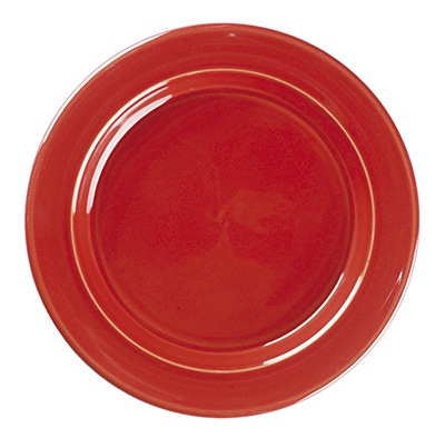 Emile Henry 338870 8-in Salad Dessert Plate, Ceramic, Cerise