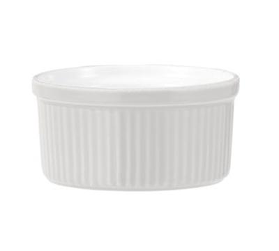 Emile Henry 051001 8-oz Souffle Dish, 4-in, Ceramic, Blanc